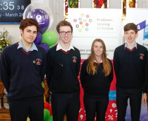 Award-winning Mountrath Community School students pictured at the AILO national final 2017